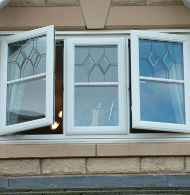 uPVC casement window - White