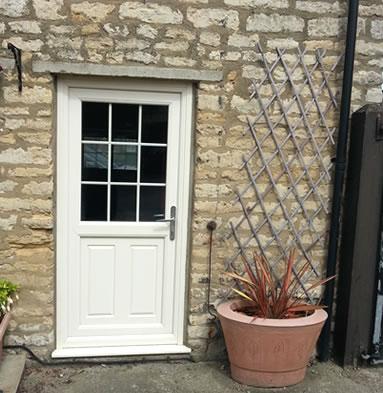 White composite door with georgian bars