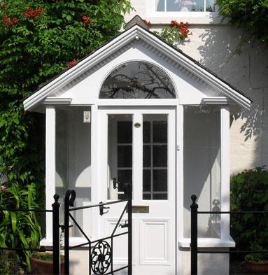 uPVC porch and entrance door