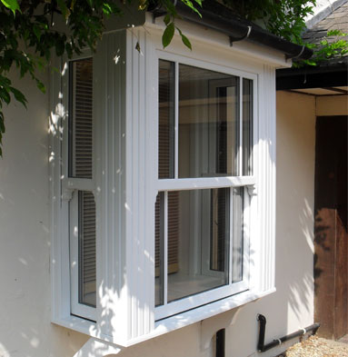 uPVC sash window - White