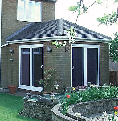 uPVC sliding patio doors - White