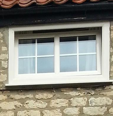 Tilt and turn window close up