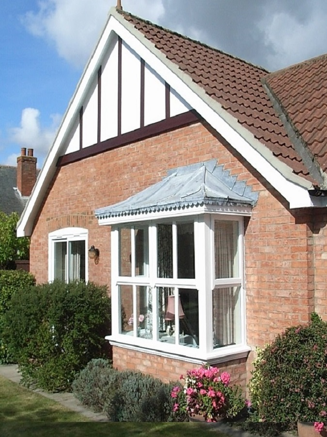 uPVC bay window- white