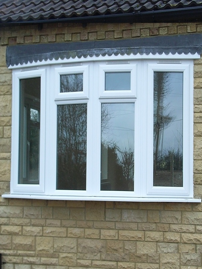 uPVC bow window - white
