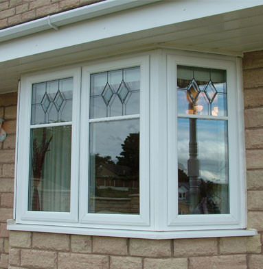 uPVC bay casement window - White