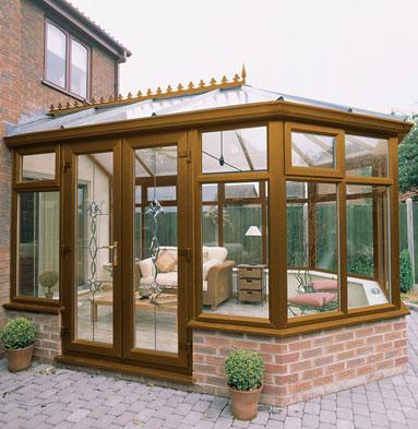 uPVC conservatory - Woodgrain