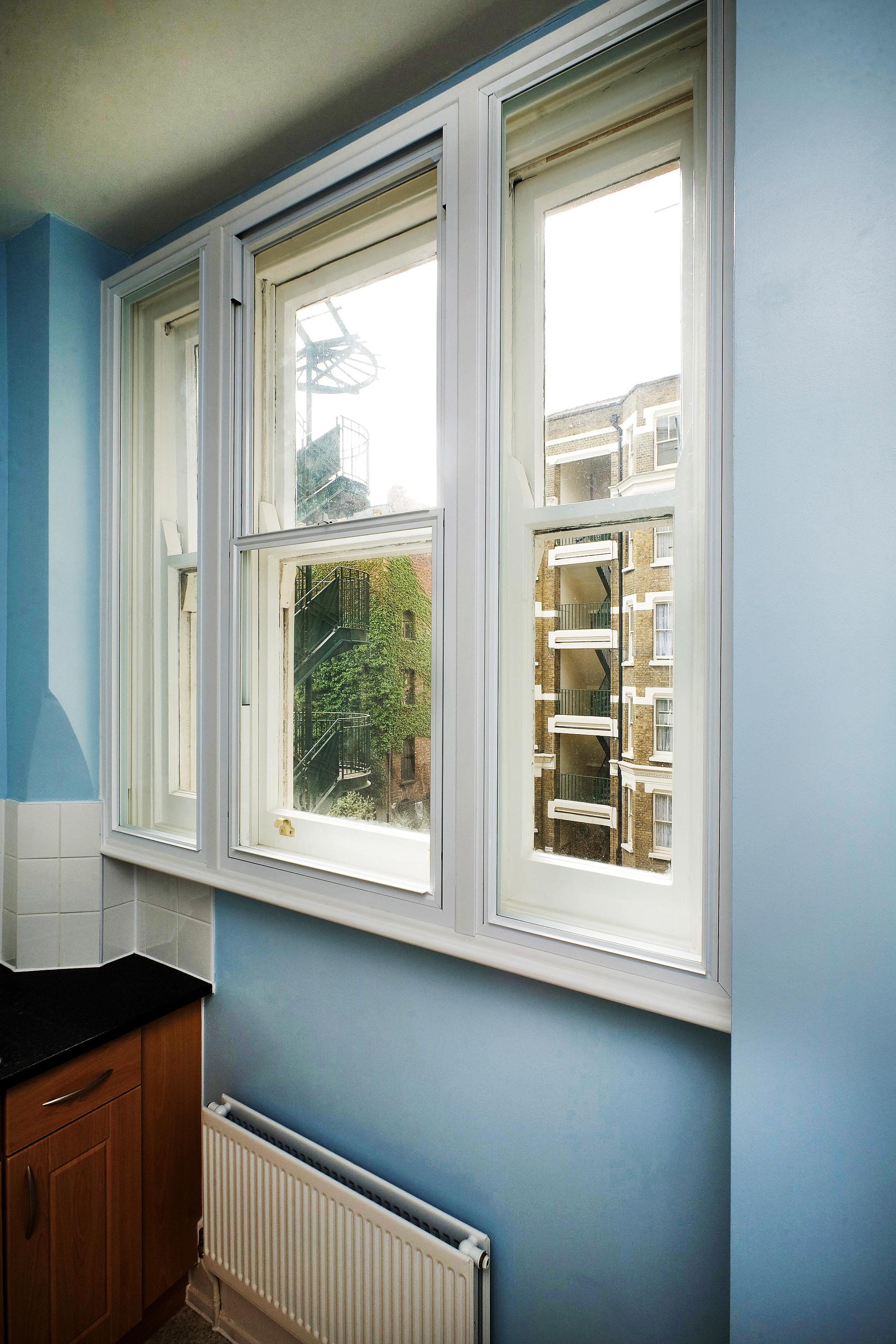 Secondary glazing in progress