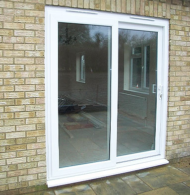 Upvc sliding patio doors in lincoln cliffside windows for Full glass patio door