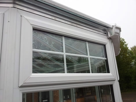 Top opening uPVC window with Georgian bars