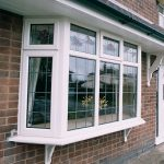 White bay uPVC window