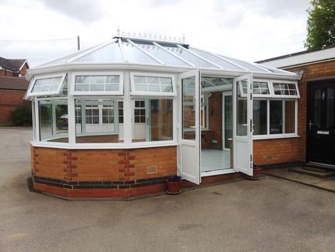 New finished uPVC conservatory